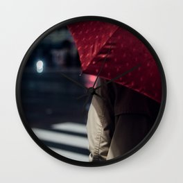 Umbrella - Enchanted by Saul Leiter.and then... Wall Clock