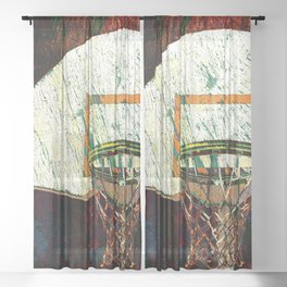 Basketball vs 13 Sheer Curtain