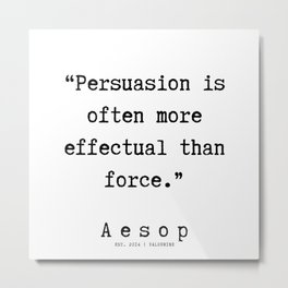 60 | Aesop Quotes | 190923 Metal Print
