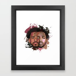 Kendrick Lamar + J Cole Framed Art Print