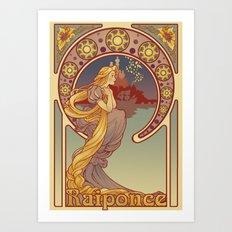 Raiponce Art Print
