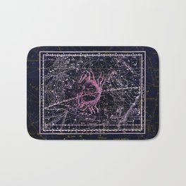 Cancer | Constellation map | Zodiac | Sign sky | Stars | Universe Bath Mat