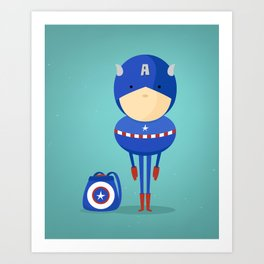 Captain A: My dreaming hero! Art Print