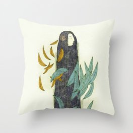 Lady Nature Throw Pillow