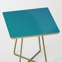 Wave pattern in teal Side Table