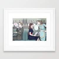 agent carter Framed Art Prints featuring Agent Carter by enerjax