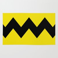 charlie brown Area & Throw Rugs featuring Charlie Brown by Dustin Hall