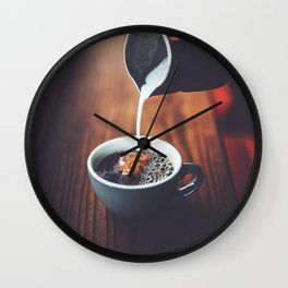 Dreams In My Coffee Wall Clock