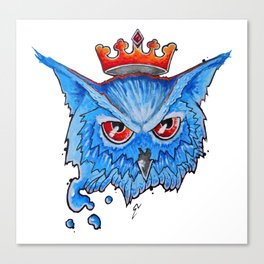 Blues Owl Canvas Print