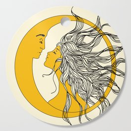 Sun and Moon Cutting Board