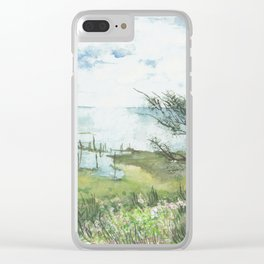 Summer by a lake Clear iPhone Case