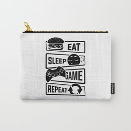 Eat Sleep Game Repeat | Video Game Console Gaming Carry-All Pouch