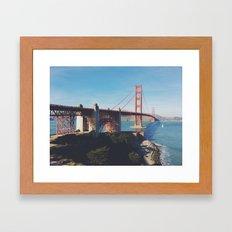 Golden Gate Bridge.  Framed Art Print