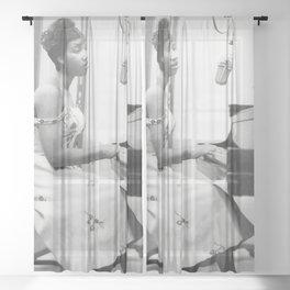 Aretha Franklin Poster American Singer Canvas Wall Art Home Decor Framed Art Sheer Curtain
