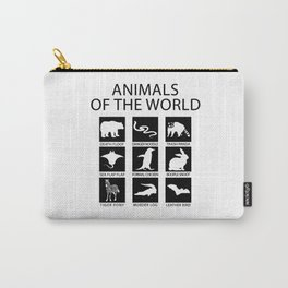 RARE ANIMALS OF THE WORLD Carry-All Pouch