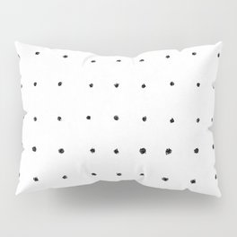 Dot Grid Black and White Pillow Sham