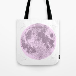 Pink Full Moon Print, by Christy Nyboer Tote Bag