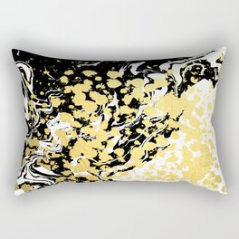 Sukie - abstract gold black and white foil glitter shiny sparkle hipster painting free spirit cosmic Rectangular Pillow