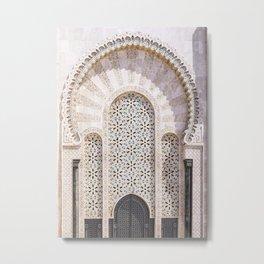 Arched Doorway in Casablanca, Morocco Metal Print