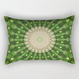 Mandala in vivid green color Rectangular Pillow
