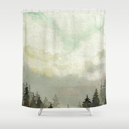 Spruce Trees After The Storm Shower Curtain