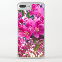 Sunset Bloom Clear iPhone Case