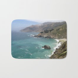 Big Sur Cali waters Bath Mat