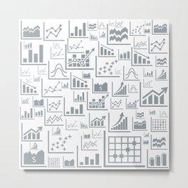 Schedule a background Metal Print
