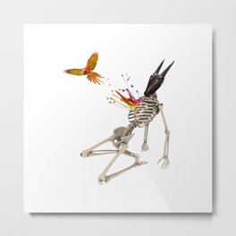 Surreal collage - Parrot Flight Metal Print