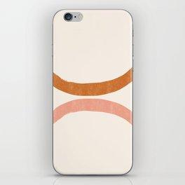Terracotta Mid Century Abstract Rainbow Arches iPhone Skin
