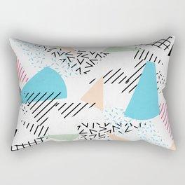 Pizza Retro Geometric 80's Rectangular Pillow
