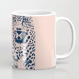 Kitten Club - Navy, Orange & Purple Leopard Print by Kristen Baker Coffee Mug