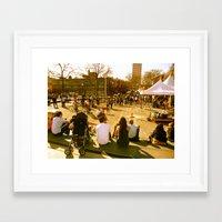 portlandia Framed Art Prints featuring Portlandia by Elisabeth Kornbread