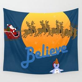 Believe In Santa Claus  Wall Tapestry