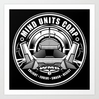 weapons of mass creation Art Prints featuring Mind Units Corp - Weapons of Mass Destruction by Kematica