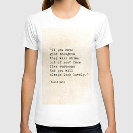 Roald Dahl Lovely Quote T-shirt