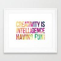 creativity Framed Art Prints featuring Creativity  by DesignByDerek