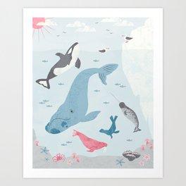 Arctic Neighborhood Art Print