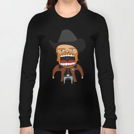 Screaming Walker Texas Ranger Long Sleeve T-shirt