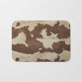 Brown and white cowhide 3 Bath Mat