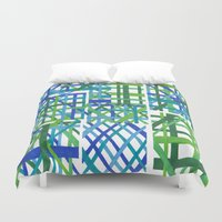 plaid Duvet Covers featuring Plaid by Smiley's Dreamboat