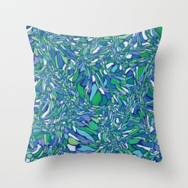 Trippy-Oceania colorway Throw Pillow