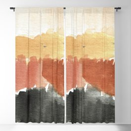 Abstract in Rust n Clay Blackout Curtain