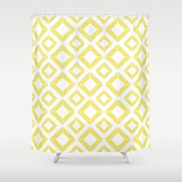 Abstract geometric pattern - gold and white. Shower Curtain