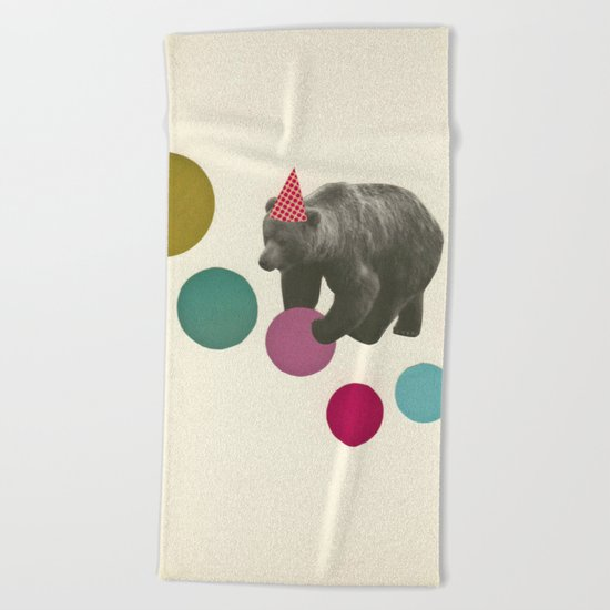 Birthday Bear Beach Towel