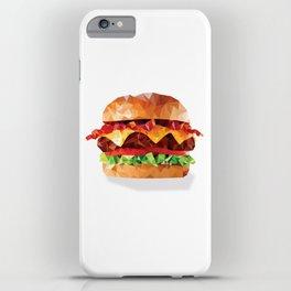 Geometric Bacon Cheeseburger iPhone Case