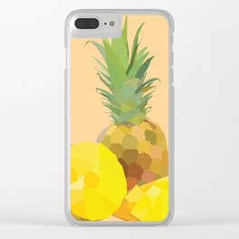 Geo Pineapple Clear iPhone Case