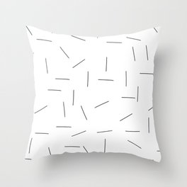 Scattering in black and white Throw Pillow