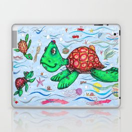 Sea Turtles and their diet Laptop & iPad Skin