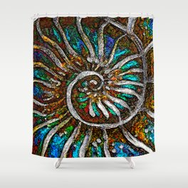 Ammonite E Shower Curtain
